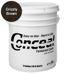 Sashco Conceal Textured Caulk герметик для дерева 18.9 л цвет Grizzly Brown