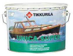 Тиккурила Уника Супер полуматовый яхтный лак  (Tikkurila Unica Super) (9 л)
